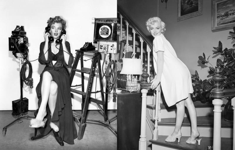 Мэрилин Монро в черном и белом