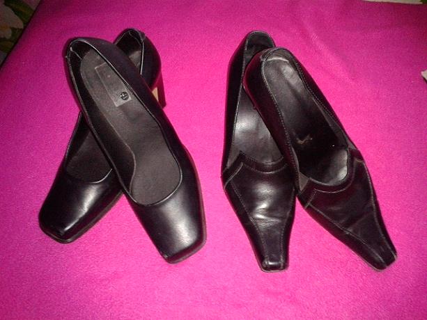 Кожаные туфли с квадратным носом