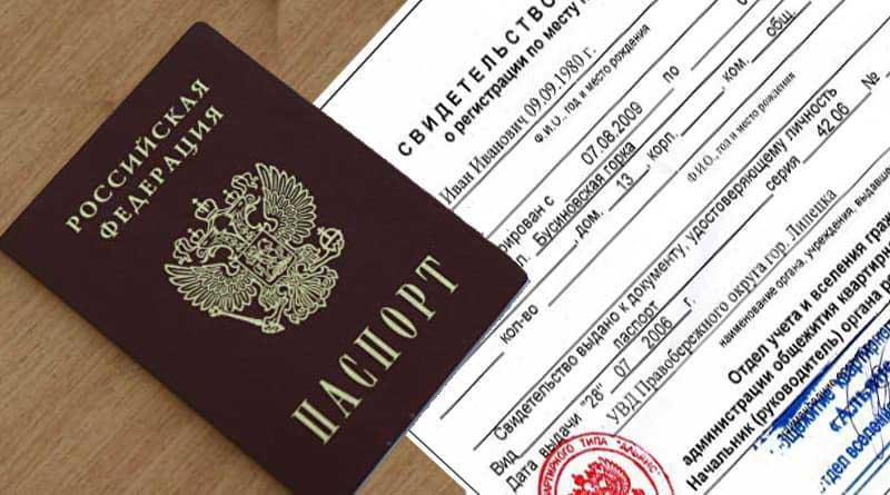 Паспорт гражданина РФ и свидетельство о регистрации