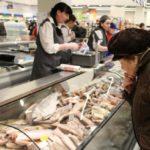Замороженная рыба в магазине