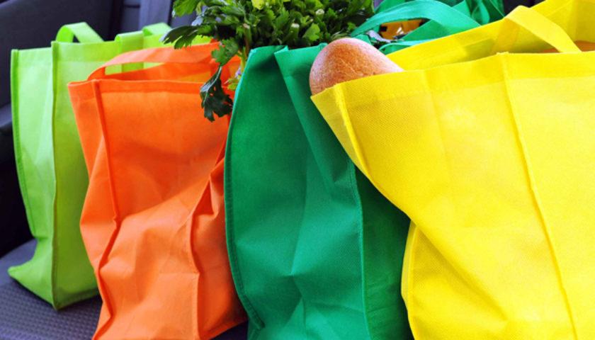 Разноцветные тканевые сумки