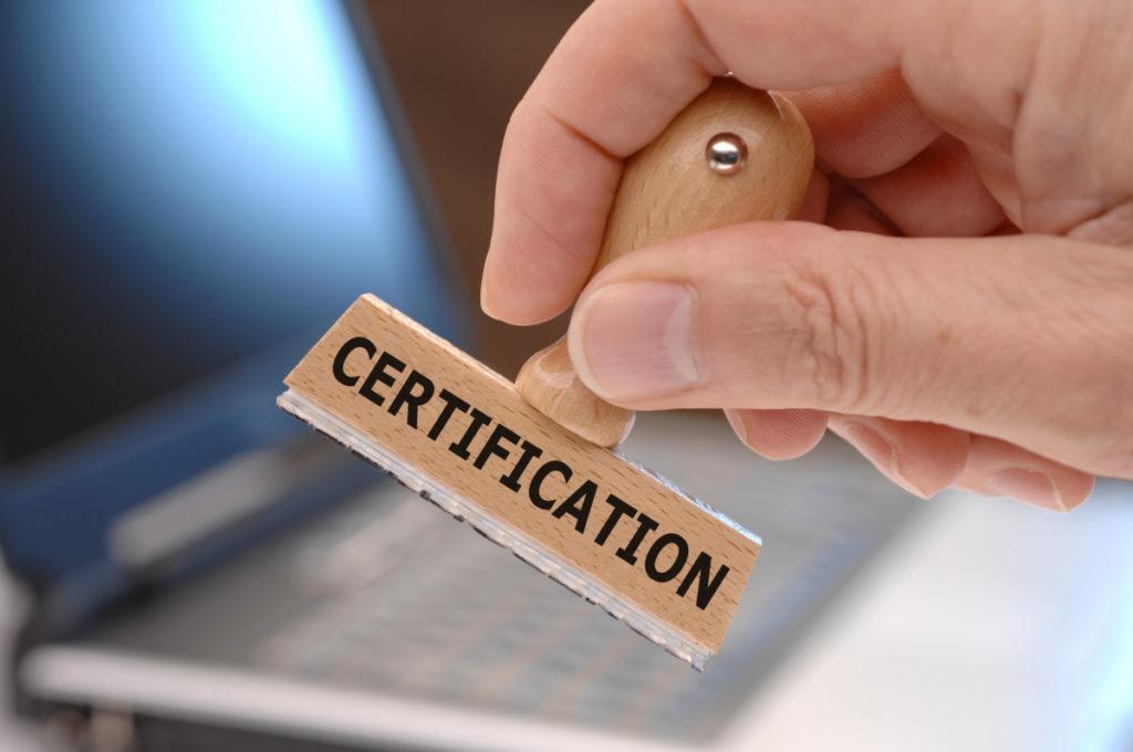 Печать на сертификат