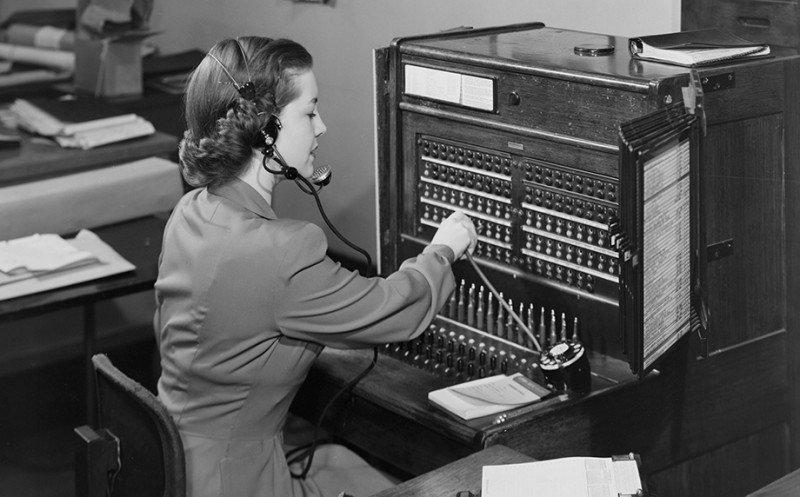 Телефонистка на работе