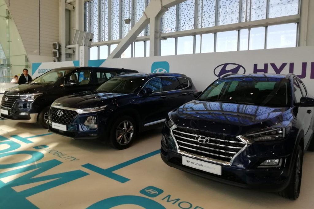 Автомобили в салоне Hyundai