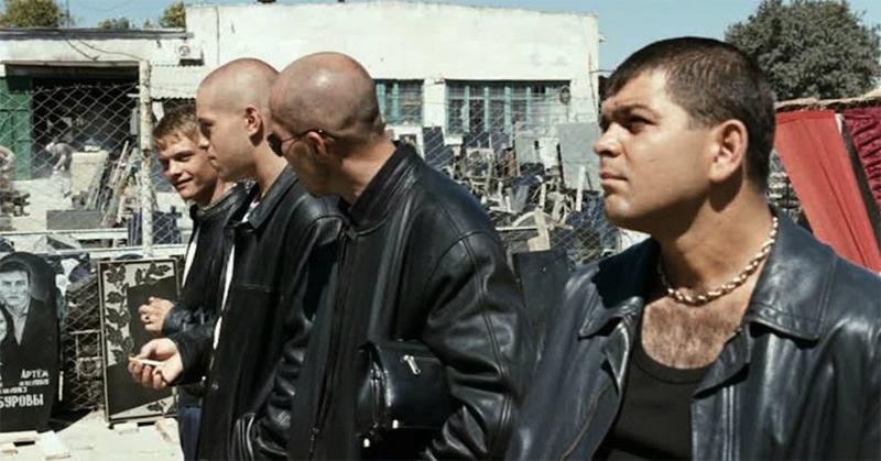 Братки в кожаных куртках