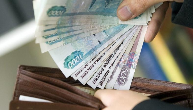 Рубли купюрами кладут в кошелек