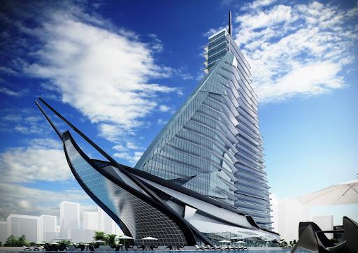 Архитектурный проект здания в виде корабля