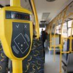 Терминал для безналичной оплаты в автобусе