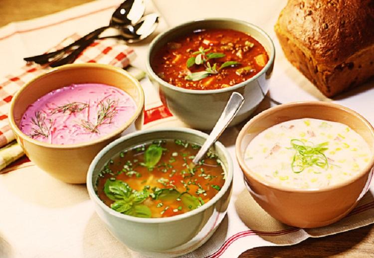 Супы в тарелках