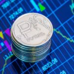 Рубли монетами и график