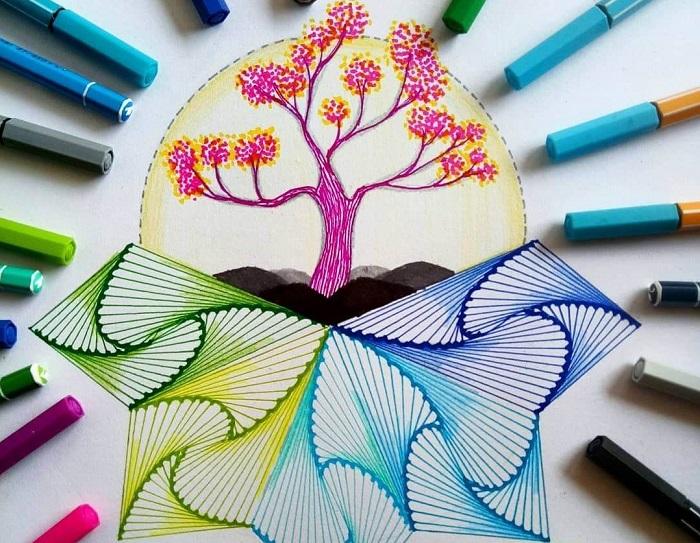 Нарисованное флоиастерами дерево