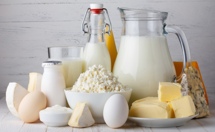 Молоко, творог, сыр, яйца