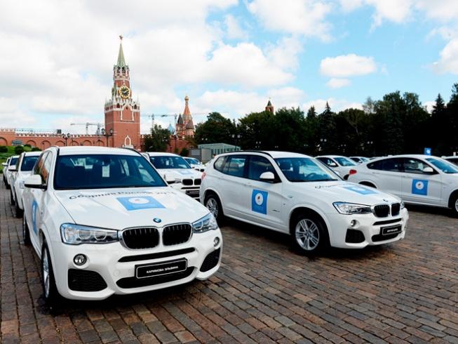 Призерские BMW для олимпийских чемпионов на Красной площади