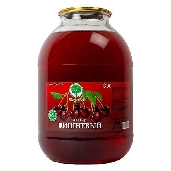 Бутыль вишневого сока «Плодовое»