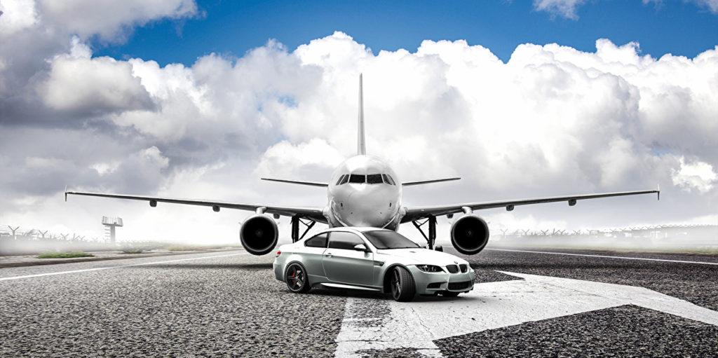 БМВ и самолет