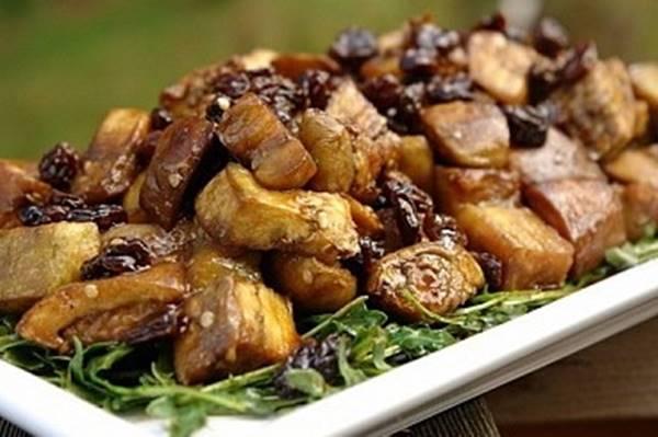 Жареные баклажаны под грибы