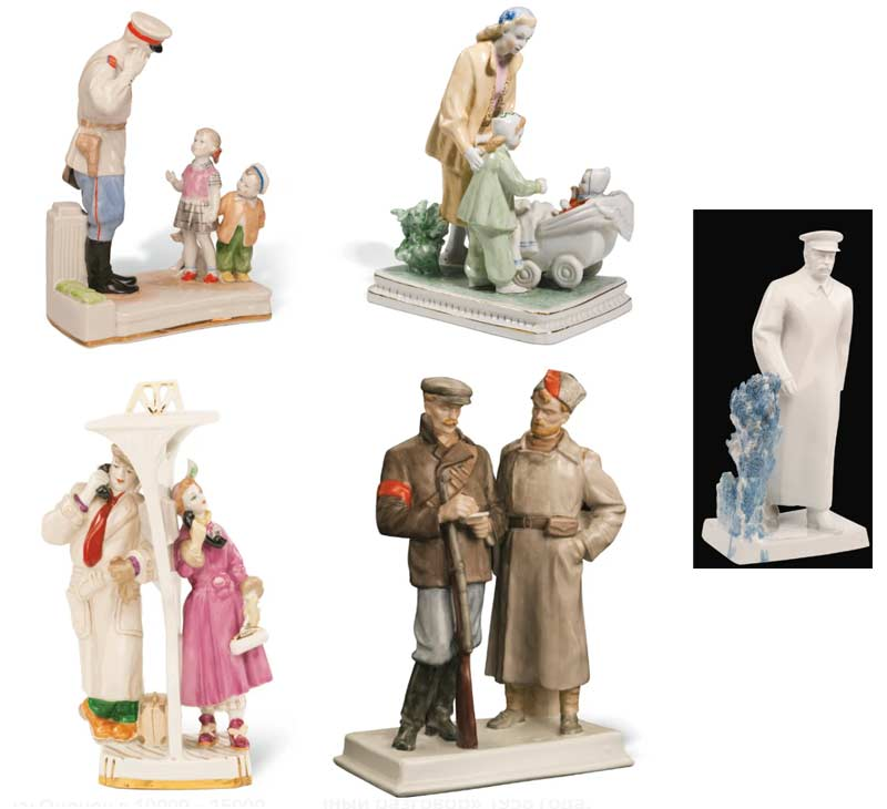 5 советских статуеток Сталин, дядя Степа
