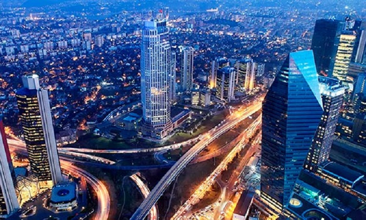 Вечерний Стамбул вид сверху