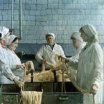 Цех мясокомбината в СССР
