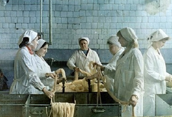 Колбасный цех в СССР