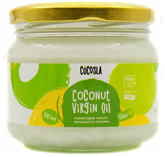 Масло кокоса Cocosla в банке