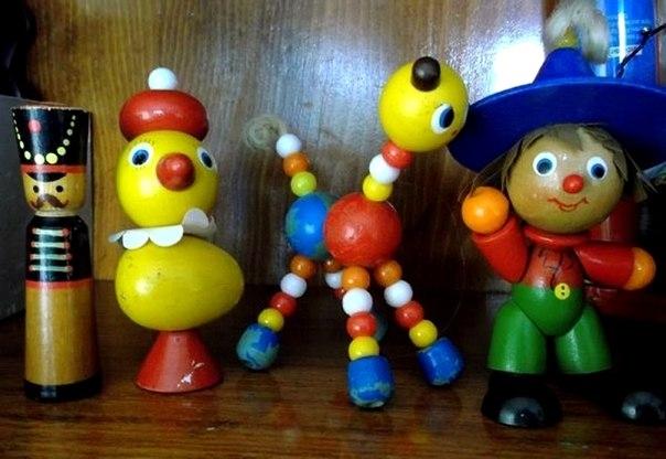 Деревянные игрушки Алуштинской фабрики
