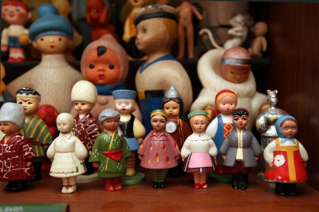 Игрушки СССР куклы народы республик