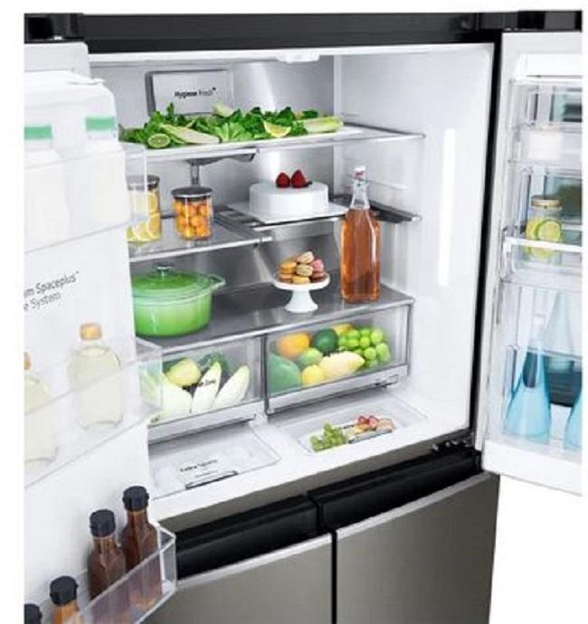 Открытый холодильник LG GR-X24FMKBL