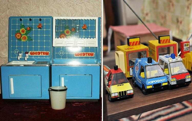 Игрушечная кухня и машинки фабрики Радуга
