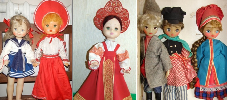 Сувенирные куклы фабрики 8 марта