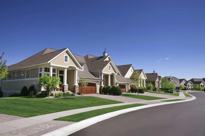 Одинаковые дома в Америке