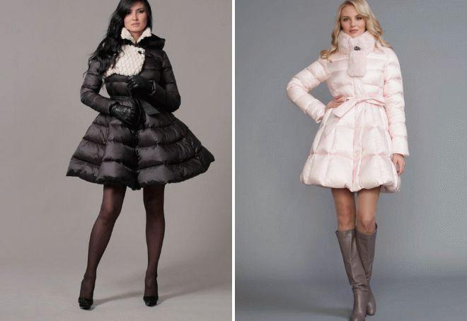 Пышные пальто-платья