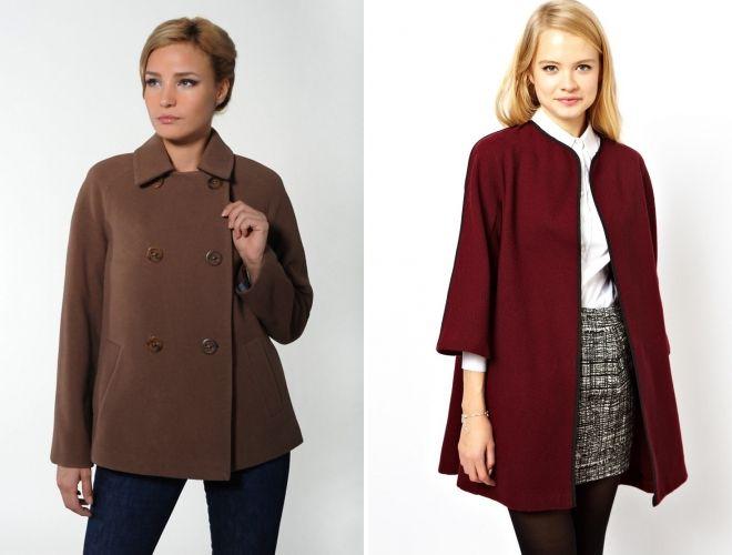 Расклешенныее мини-пальто на девушках