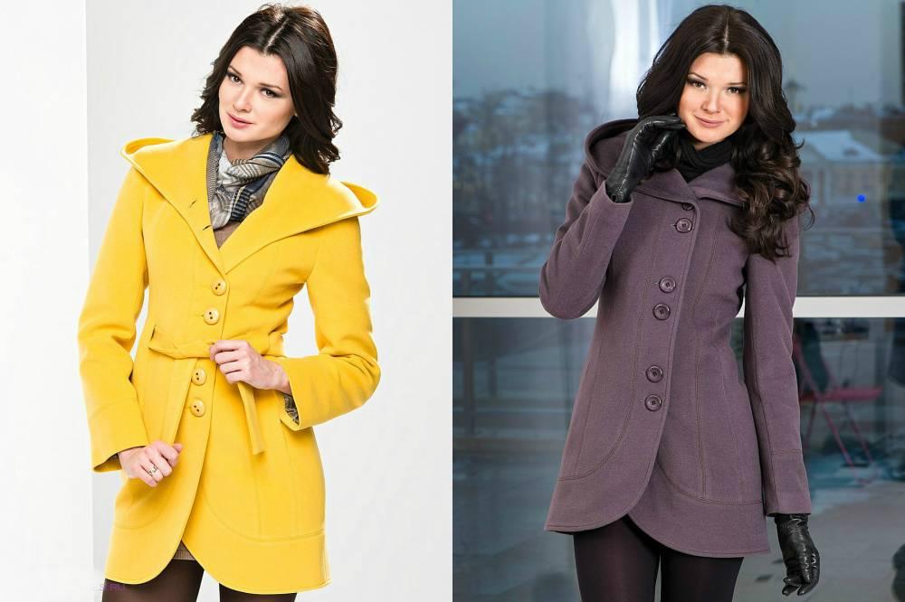 Короткие приталенные пальто