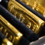 Золотые слитки в ряд