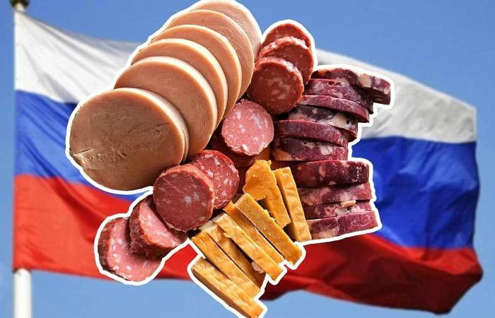 колбаса и флаг России