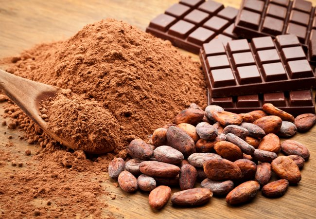 Шоколад, какао-бобы и какао-порошок