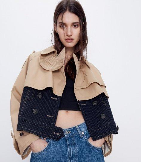 Модель в укороченной куртке Zara